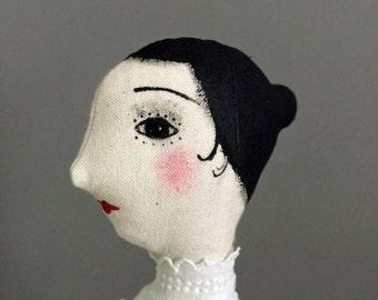 Art Doll OOAK - Dorothea - Collectible handmade art doll for display