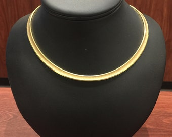 Fine & Rare 18K Yellow Gold Vintage Choker Necklace, circa 1960's