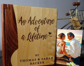Personalized photo album, Custom Photo Album, Wood photo album, Wedding gift, Howsewarming gift  - 109 design