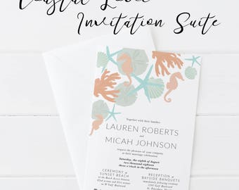 Wedding Invitation, Wedding Printable, Printable Invitation, Instant Download, Wedding Invitations, Beach Invitation, Beach Wedding,