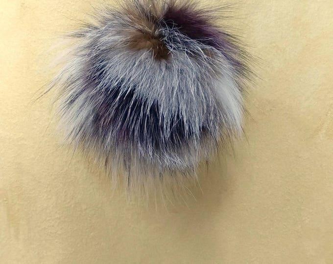Fox Fur Pom Pom, Bag Pom Pom,Fur keychain F629
