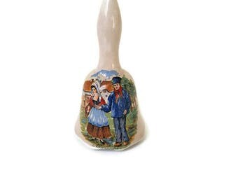 vintage Normandy bell, Normandy ceramic bell, french souvenir