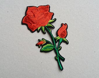 Rose buds, flower patch, sew on patch, iron on patch, applique patches, cute patches, rose patches, embroidered patch, patches for jackets
