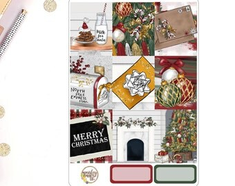 Merry Christmas Weekly Kit for use in Erin Condren