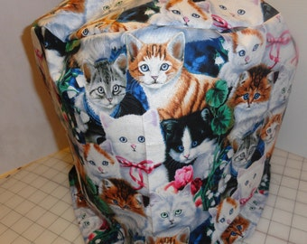 Instant pot cover, 6qt, Valentines kitties, kittens, flowers, many colors. cotton, FREE US SHIPPING