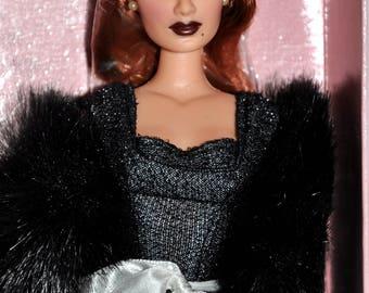 Mikelman Fabulous Fur Charise Black Magic Doll, Barbie Style Doll, Vintage Barbie Size Doll, Auburn 12Inch Doll, Collector Doll