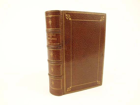 1864 Fine Binding. L'Imitation de Jesus-Christ (The Imitation of Christ), Thomas a Kempis. Mame, Tours