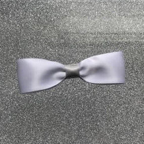 White Satin Bow
