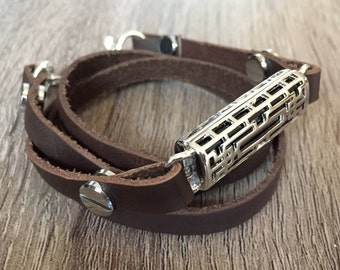 Brown Multi Wrap Leather Bracelet for Fitbit Flex 2 Activity Tracker Handmade Fitbit Flex 2 Band Adjustable Steampunk Fitbit Flex 2 Bands