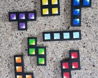 Tetris Fuse Bead Patterns (Perler Beads)