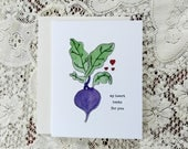 Funny Valentine's Card / Funny Love Beet Card / Significant Other / For Girlfriend / For Wife / For Husband / My Heart Beets / Beet Pun