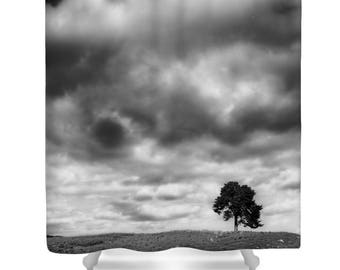 tree shower curtain tree bathroom decor black and white landscape shower curtain