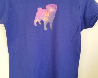 Women's Medium Galactic Pug Shirt