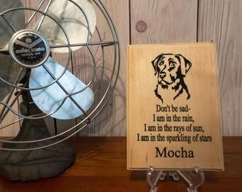 Personalized Pet Memorial, Pet Memorial, Pet Memorial Gifts, Pet Loss Gift, Custom Dog Memorial, Custom Wood Plaque, Custom Pet Memorial