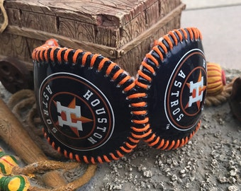 Houston Astros Logos Baseball Cuff Bracelet