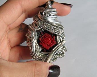 Deep Rose Pendant