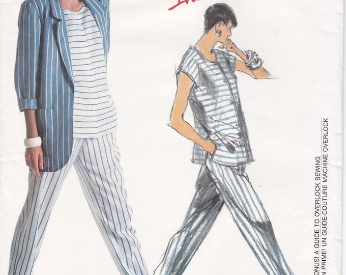 FREE US SHIP Vogue 1904 Designer Tamotsu Sewing Pattern Uncut Size 14 16 18 Bust 36 38 40 Top Pants Jacket Like New Individualist