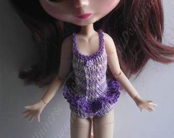 Handmade Purple Swimsuit for Blythe