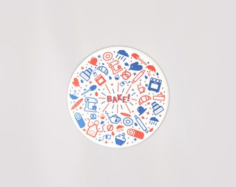 British Bake Off Decal | FREE US Shipping | Weatherproof | 3in | Vinyl | Baking | Great Britain | UK