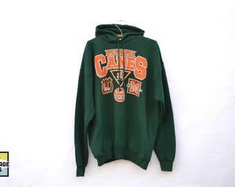 90s Vintage Miami Hurricanes Crew Neck Sweatshirt