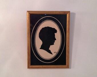Man Silohouette Picture, Boy Silohouette, Silohouette Wall Art, Wall Decor, Wall Art, Silohouette Art