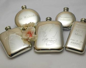 Husband Hip flask, Husband birthday gift, husband engraved gift, engraved hip flask, personalised hip flask, traditional hip flask, pewter