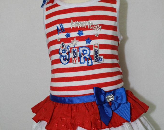 Fourth of July Dress, Girls 4th of July Dress, USA Dress, Red, White, and Blue outfit, Independence Day Dress, Red, White, Blue Sundress