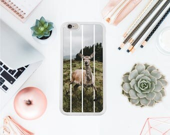 Deer Iphone 7 case geometric Iphone 8 hard case wild buck iphone 7 protective case forest iphone 8 case gift for her Valentines day OT89
