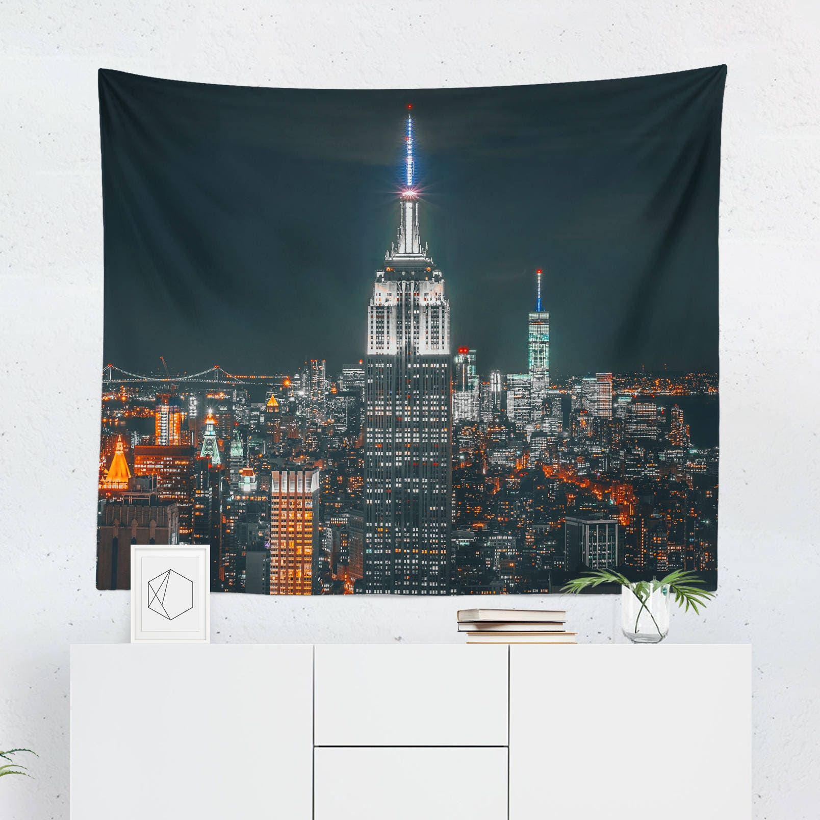 New york city wall d cor new york tapestry empire state for New york city decor