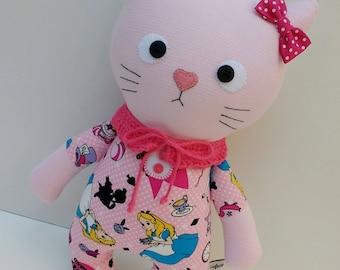 cute cat, cat doll, cloth cat, handmade dolls, cat girl, cat rag doll, cat doll, gift for girls, baby doll, fabric doll