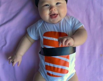 Sushi Baby Outfit, Foodie Baby Outfit, Unique Baby Shower Gift, Premium Quality Bodysuit and Hat