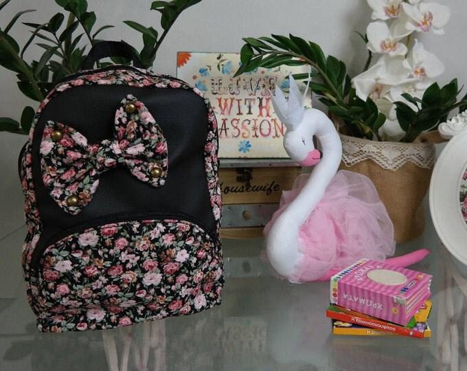 Baby School Black Floral Backpack