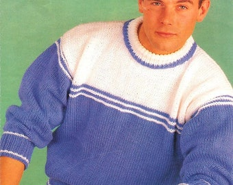"""Original Vintage Knitting Pattern~Studley 1322~Easy Knit Family Sweater~Chunky~24-46"""""""