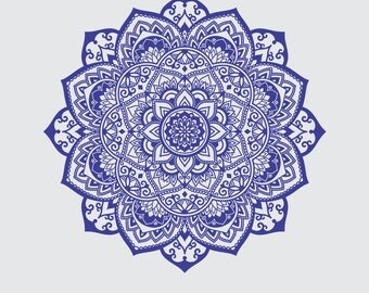 Mandala SVG - Mandala Drawing - Mandala Iron on Transfer - Mandala clip art - Mandala Insatnt SVG - Laser Cutting and Engraving file - Print