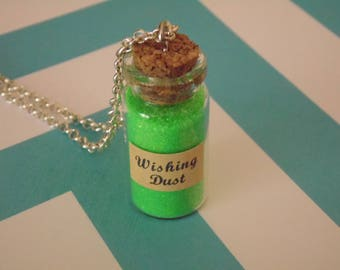 Wishing Dust Bottle Charm Necklace