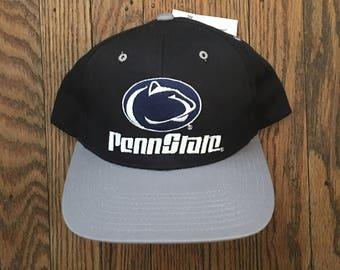 Vintage 90s Deadstock Penn State Nittany Lions NCAA Snapback Hat Baseball Cap