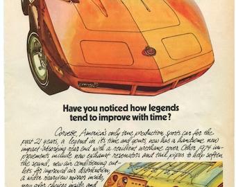 1974 Corvette Stingray Ad (74-MT-10)