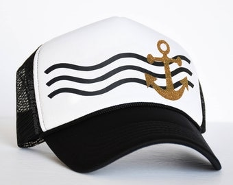 Anchor Hat Etsy