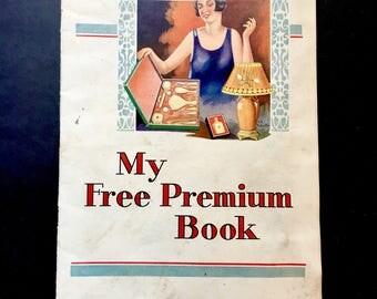 Vintage Salesman's Premium Book 1927 My Free Premium Book Geared Towards Women Ephemera Fabulous Graphics! Normandy Chocolates Scrapbook
