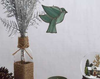 Glass Bird Sun Catcher, Bird Window Decor for Garden Lover, Gift for BFF, Suncatchers Birds Gift Handcrafted in USA by Glass Blessings