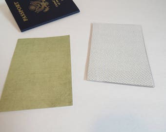 Distressed Green Passport Cover, Solid Color, Passport  Sleeve, Case, Holder
