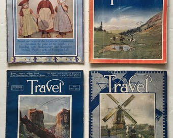 Travel Magazine March, May, and November 1916 and January 1917 Lot of 4 Vintage Magazines - Great Old Ads
