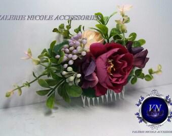Flower comb Wedding flower comb Bridal flower comb Floral comb Bridal hair accessories Flower hair vine
