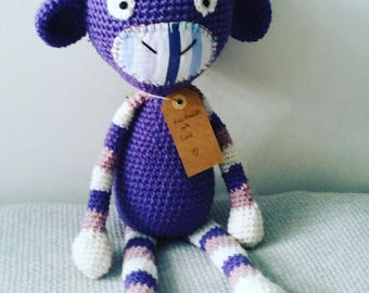 Miss Ella Crochet Monkey, stuffed toy