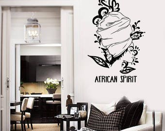 Wall Vinyl Decal  Women African Spirit Poster Image for Living Room Decor  (#2690dn)