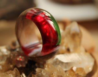 Christmas gift for her christmas ring for bridal vegan gift for girl Halloween ring custom jewelry nature ring eco gift natural ring lover