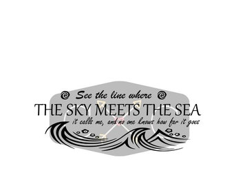 where the sky meets the sea SVG file