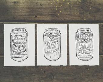 SAD Beer prints