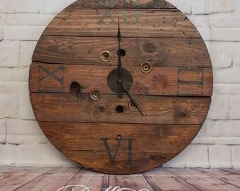 Custom Spool Clock