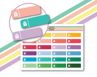 Birthday planner stickers, Happy Birthday stickers, Birthday reminder stickers, Functional stickers, Cute stickers